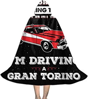 I May Look Like Gran Torino Starsky and Hutch Unisex Kids Hooded Cloak Cape Halloween Party Decoration Role Cosplay Costumes Outwear Black