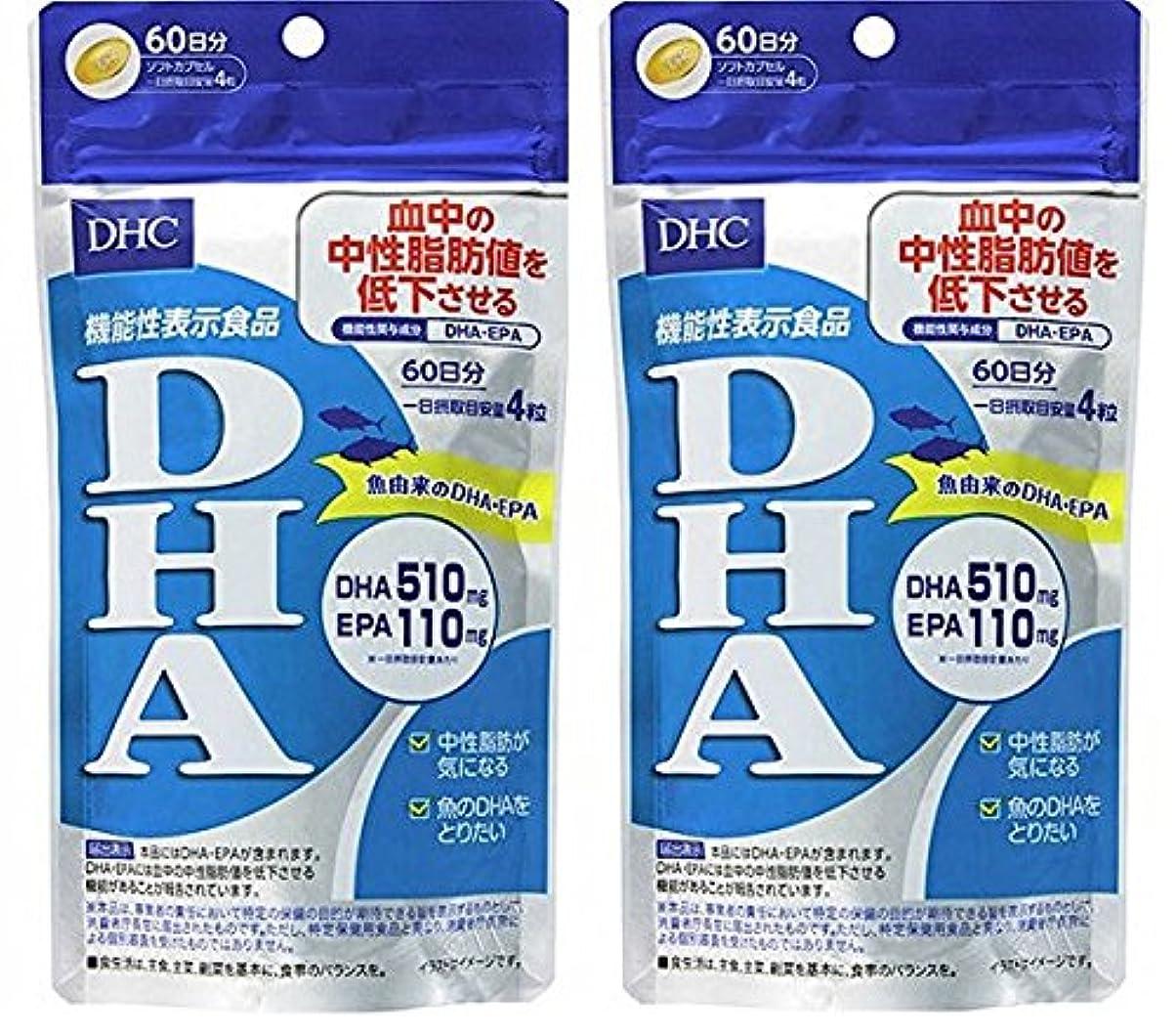 円形クリーム抗議【2個セット品】DHC DHA 60日分 240粒 【機能性表示食品】