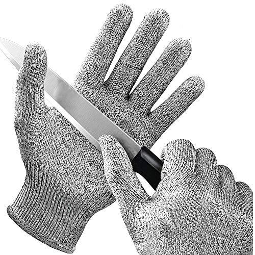 ChuckSss Schnittfeste Handschuhe,2 Paar,Level 5 Schutz,Lebensmittelqualität,Sicherheits-Schneidhandschuhe Für Den Handschutz In Der Küche,Austernschütteln,Mandoline Schneiden,Fleisch Schneiden (L)