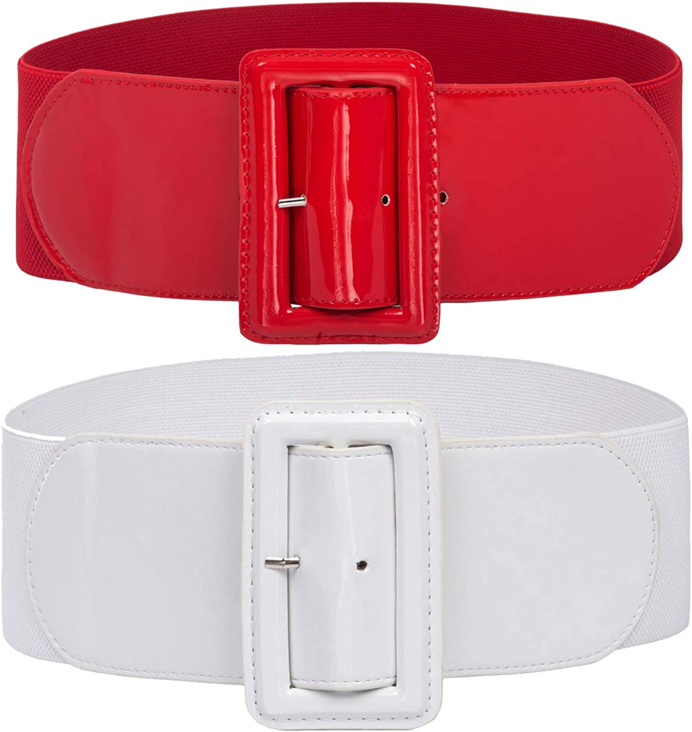 GRACE KARIN Women's Stretchy Belt 1950s 3 Inch Wide Elastic Belts at  Women's Clothing store