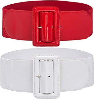 Grace Karin Women Fashion Classic Buckle Stretchy Waist Belt CL010620