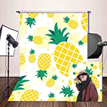 MEETS 5x7ft Fruit World Backdrop Yellow Pineapple Photography Background Themed Party Photo Booth YouTube Backdrop LXMT491