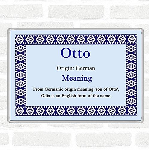 Otto Name Meaning Jumbo Koelkast Magneet Blauw