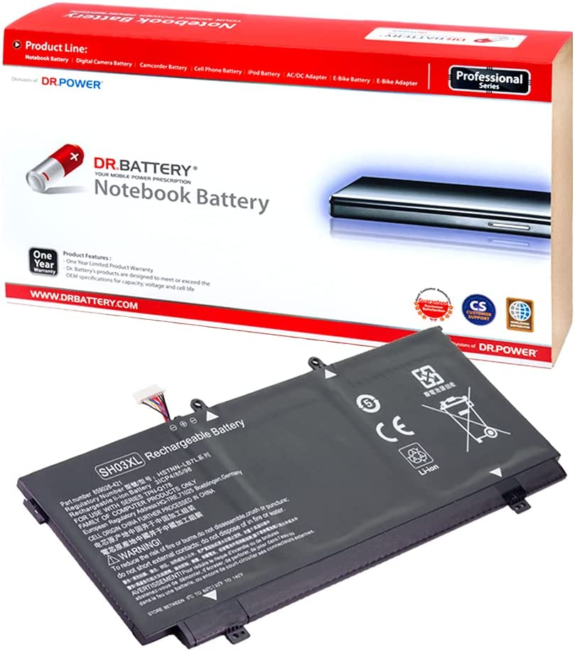 DR. BATTERY SH03XL 859356-855 Battery Replacement for HP Spectre X360 13-ac000ns 13-AC0XX 13-ac012tu 13T-AC000 13-ac010ca 13-AC033DX 13-W013DX Series CN03XL HSTNN-LB7L [11.55V/5013mAh/57.9Wh]