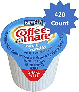 Nestle Coffee-mate Coffee Creamer, French Vanilla, liquid creamer singles, Pack of 420 (French Vanilla, Pack of 420)