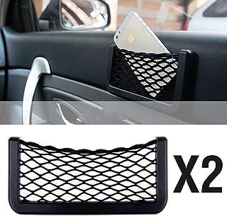 Duokon Sacchetto Immagazzinaggio Automatico Sacchetto Aria Telefono Cellulare Tasca Supporto Auto degli Occhiali Sole Sfiato Automobile Nero