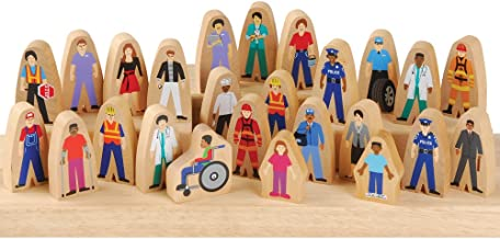 Arts /& Crafts /& Pretend Play Great Set for Nativity Decor Diverse Multicultural Colored Pieces milk /& honey co Hand-Painted Wooden Peg Dolls Decorative Wood People Figures for Kids /& Adults