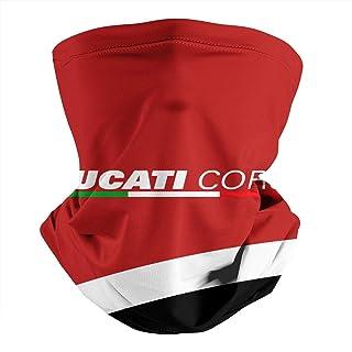 WH-CLA Pois Corallo Rosso Copricapo A Mezza Faccia Unisex Ghetta da Collo Protezione UV Sciarpa al Collo Antivento Face Guard per Snowboard,Arrampicata,Ciclismo