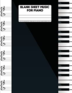 Blank Sheet Music For Piano: 8.5