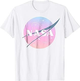 NASA Pastel Rainbow Classic Logo Graphic T-Shirt
