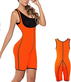 da239186d2 Womens Full Body Fitness Shaper Sweating Bust Care Good Stretchy for Weight  Loss or Sports Body