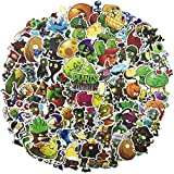 Plants vs. Zombies Laptop Stickers for Teen&Kid&Boy, 100Pcs Pack Cool Vinyl Computer Waterproof Water Bottles Skateboard Luggage Decal Graffiti Patches Decal