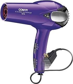 Conair 1875 Watt Cord Keeper Hair Dryer, Purple (packaging may vary)