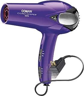 Conair 1875 Watt Cord Keeper Hair Dryer, Purple