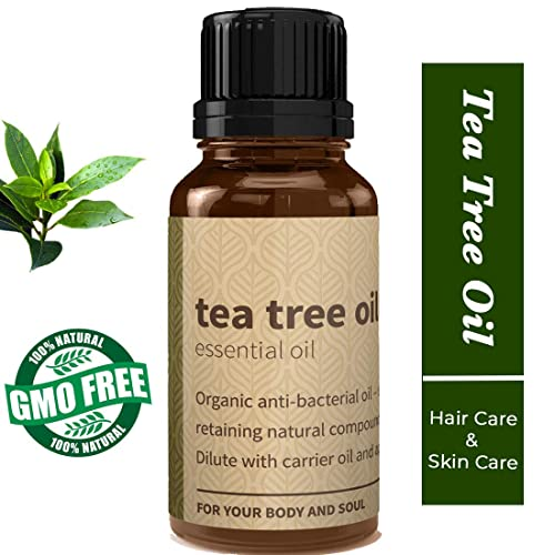Rouh Essentials Tea Tree Essential Oil, Pure and Organic, 15ml