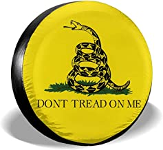 Don't Tread On Me Gadsden Flag Spare Tire Cover Universal Truck Wheel Tyre Protector for Jeep SUV Trailer RV Truck Wheel
