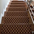 CAMILSON Stair Treads Runner Mats - Non Slip Indoor Outdoor Carpet - Pet Dog Stair Pads Step Covers (Set of 7, Trellis Brown)
