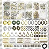 Earring Charms for Jewelry Making Supplies - Earring Making Kit Hypoallergenic, 24 Pair Bohemian Dangle Earring Charms Craft Set, with Earring Findings, String, for DIY, Arts and Crafts, Girl, Gift