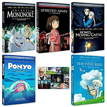 The Continued Success Collection  Written & Directed by Hayao Miyazaki  Princess Mononoke / Spirited Away / Howl s Moving Castle / Ponyo / The Wind Rises  + Bonus Art Card