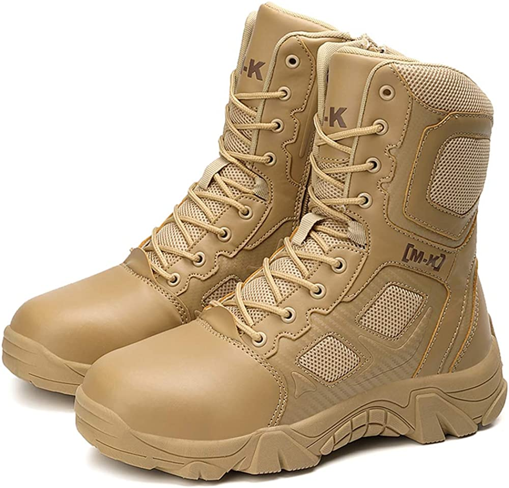 Bitiger Super intense SALE 100% Cowhide Leather Steel Toe Men's Tac Military El Paso Mall