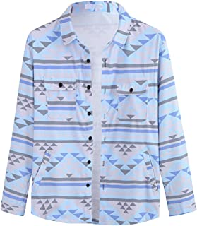 OMINA Hawaii Printed Corduroy Shirts for Men Cool Breathable, Fashion Casual Long Sleeve Top Blousers