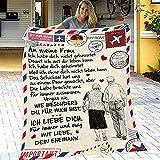 Manta de lana para mi hija / hijo, edredones impresos con letras, manta personalizada para correo aéreo de mamá papá,...
