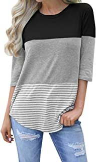 Best round neck striped t shirt Reviews