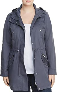 Junarose Womens Plus 4 Pocket Hooded Parka Coat