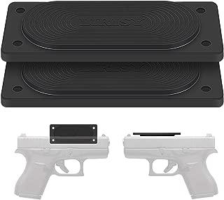 LIRISY 2PCS Gun Magnet Mount, 45lb Car Holster Concealed Carry Holster Under Desk Holster for Handgun Pistol Revolver Magazine in Vehicle, Wall, Vault, Bedside