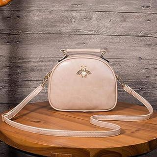 SXCYU SXCYU Mode Umhängetasche PU Leder Crossbody Messenger Bags Kleine Frauen Tasche Weibliche Handtasche Geldbörse, apricot, 22 X 18 X 8 cm
