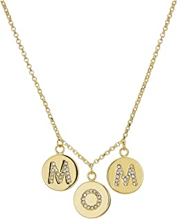 Kate Spade New York - Mom Knows Best Pave Mom Charm Necklace