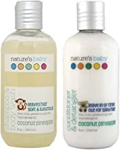 product image for Nature's Baby Organics Baby Shampoo and Conditioner Combo Pack, Moisturizing Tear Free Baby Shampoo 8 oz and Conditioner 8 Oz, Organic Ingredients, No Sulfate or Paraben, Coconut Pineapple, 2 Pack