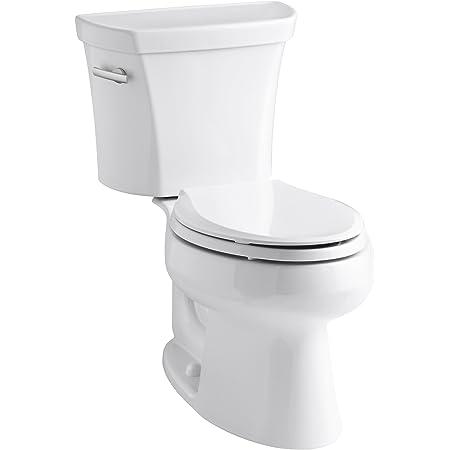 Kohler K-3998-0 Wellworth Elongated 1.28 gpf Toilet, White
