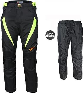 , Gris JET Pantalones moto motocicleta hombre vaqueros impermeable con protecciones cordua Dynamo 4XL 58 Corto//Cintura 42 Longitud 30