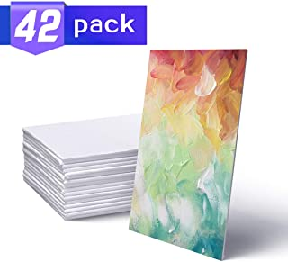 White Blank Canvas Panel Boards,Paint Board,5x7 Inch Art Canvas,Artist Canvas Boards for Painting,Pack of 42.