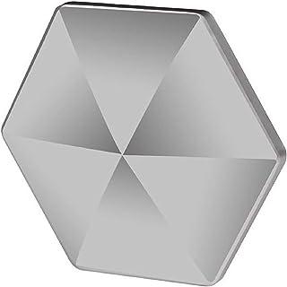 Flipo Flipデスクのおもちゃ、金属の回転速度の指先の子供大人のストレスの軽食のおもちゃ、ポケットストレス軽蔑のおもちゃ,銀,hexagon