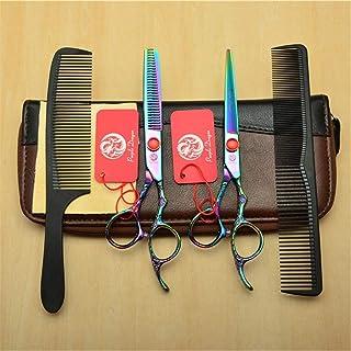 Professional Barber High-End 6,0 Inch Hair Snijden Scharen Verdunnende Shears 9CR Steel Kleurrijke 4 delige Set Kappen S...