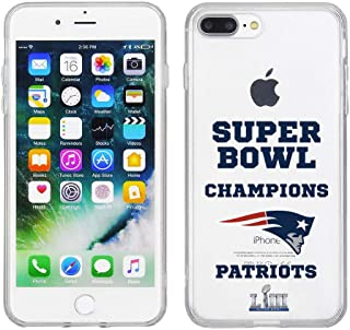 Apple iPhone 8 Plus/iPhone 7 Plus/iPhone 6s Plus/iPhone 6 Plus - NFL Licensed New England Patriots LIII Super Bowl Champions on Clear PC Cover