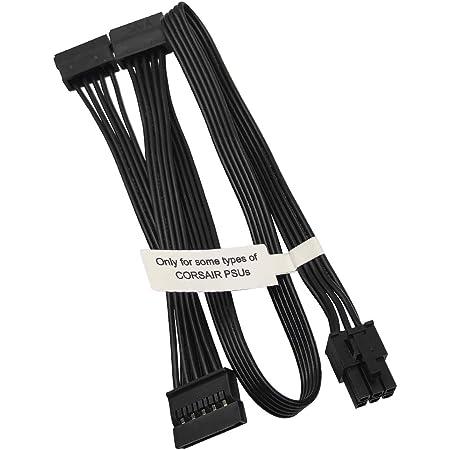 Comeap 6 Pin Bis 3x15 Pin Sata Festplatten Adapter Kabel Für Modulares Corsair Netzteil 50 Cm 20 Zoll Gewerbe Industrie Wissenschaft