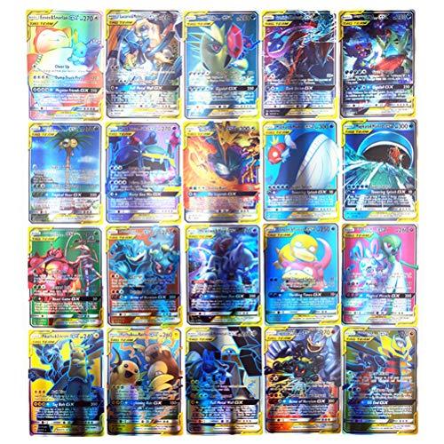 150 Pièces Ensemble de Cartes Pokemon Comprenant 80 Pièces Nouvelles Cartes dÉquipe dÉtiquette + 40 Cartes Mega EX + 20 Cartes Ultra Beast GX + 1 Carte dEntraînement et 9 Cartes dÉnergie Rare