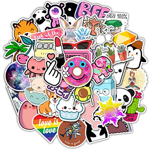 Laptop Stickers Pack Cute DIY Stickers 50PCS Water Bottles Stickers Cute,Waterproof,Aesthetic,Trendy Stickers for Teens,Girls Perfect for Waterbottle,Laptop,Phone,Travel Case