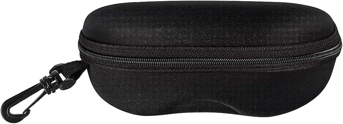 FF1 Zipper Shell Sunglasses Glasses Case with Belt Loop, Clip, Plastic Carabiner Hook