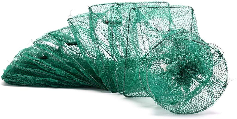 BYWWANG Nylon Fischernetz Faltbare tragbare Krabben Krebse Hummerfnger Live Trap Fischnetz Aal Garnelen Garnelen Kder Netze