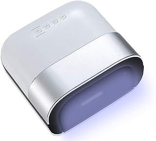Led Lámpara De Uñas de Esmaltes Semipermanentes,48w Profesional Secadores De Uñas Para Gel Polaco,Con Sensor Automático Y Lcd Monitor Para Casa Clavo Salón-Plata 21.3x20x10cm