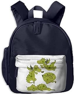 Green Dragon Children Fashion Adjustable Oxford Shoulderbag Mini School Bag