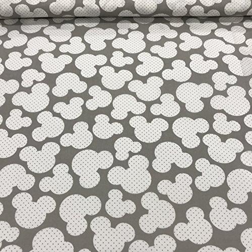 Erstklassiger Baumwollstoff 0,5lfm, 100% Baumwolle, modische Muster, Breite 160cm – Miki grau