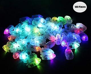 Yuccer Mini LED Bombillas Luz, Balloon Lights para Globo Celebración Cumpleaños Partido Decoración Luces de Globo 100 Piezas (B Bullet)