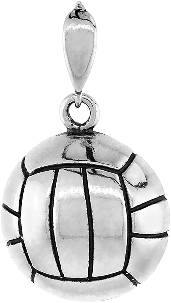 Under blast sales Sterling Silver Volleyball All items in the store Pendant inch 1 16
