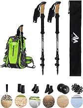 ayamaya Trekking Poles for Hiking Walking, 100% Carbon Fiber Ultralight Antishock Quick Flip Lock Cork Grip -[2 Style]- 70...
