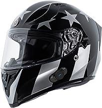 Rebel Star, Large T27B1 FWT RS XL T27B Full Face Modular Helmet with Blinc Bluetooth TORC